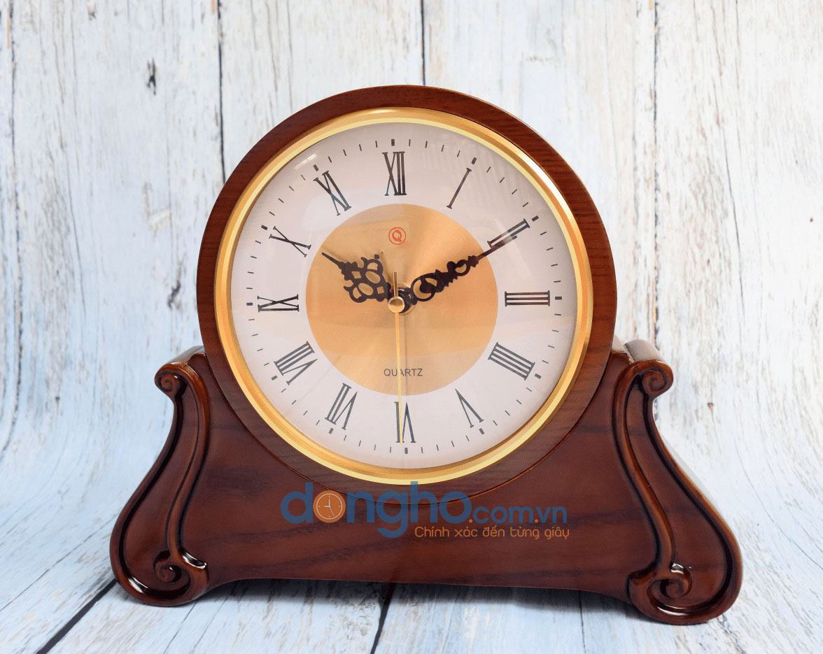 Đồng hồ để bàn gỗ HM19