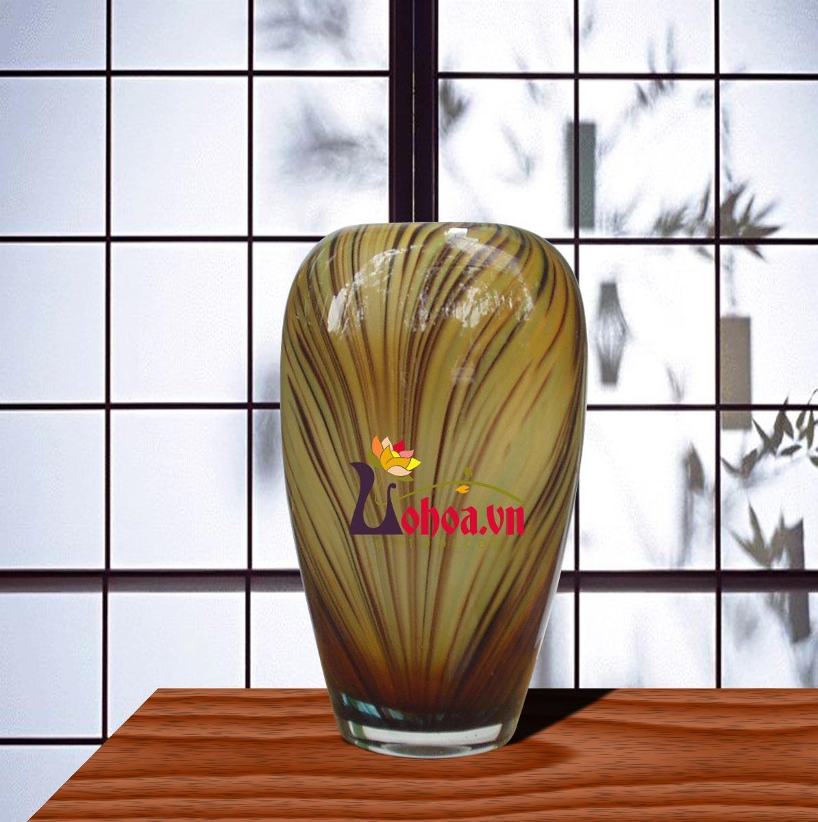 Lọ hoa thủy tinh  chỉ vằn LT02