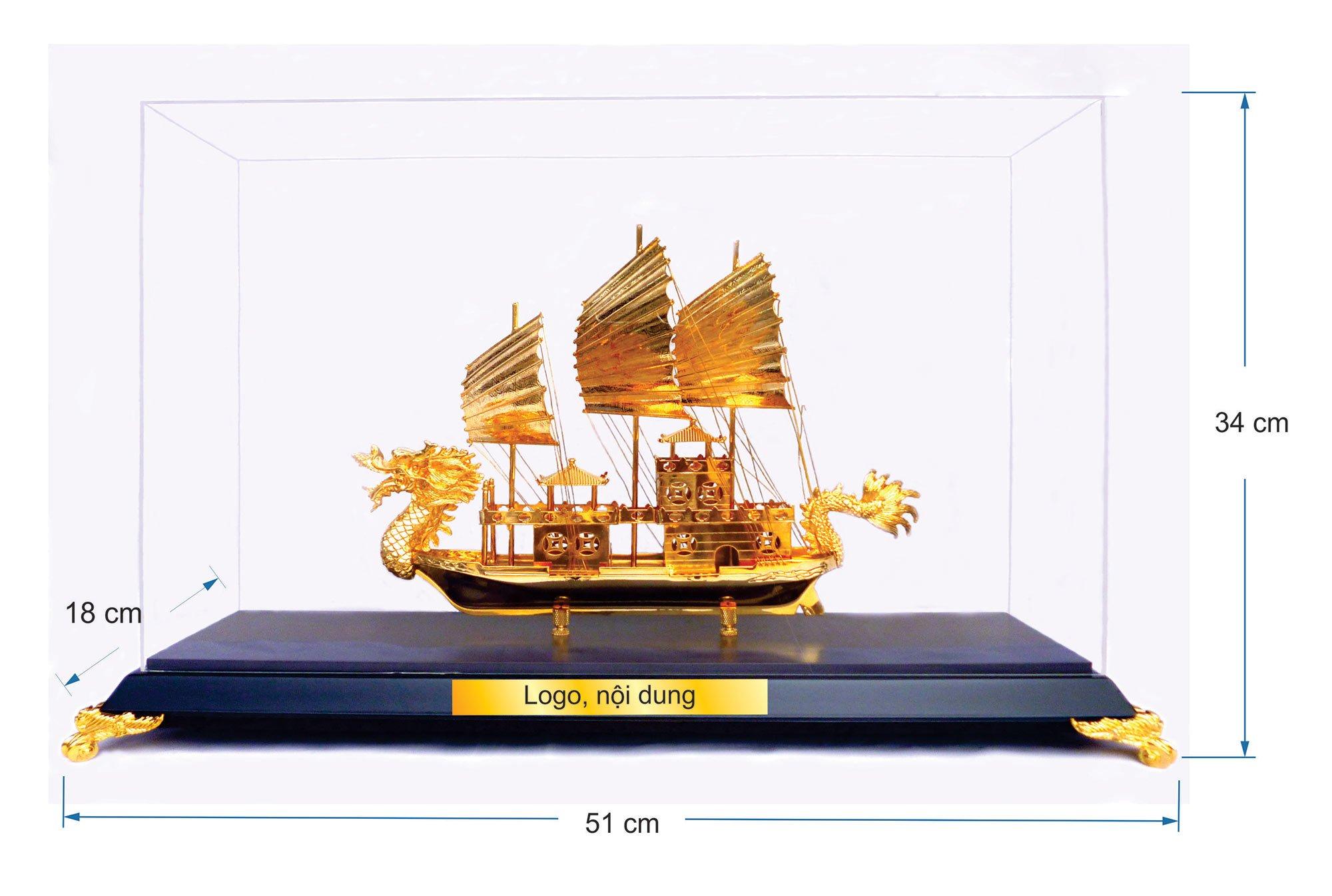 Thuyền buồm mạ vàng cỡ đại 54